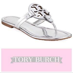 Tory Burch Miller Mirror Metallic Sandals